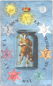 Engraving From Baro Urbigerus Besondere Chymische Schrifften 1705, Alchemical And Hermetic Emblems 1