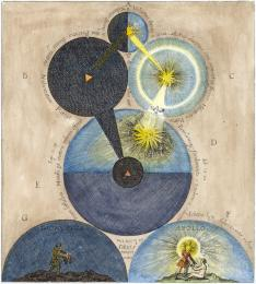Engraving From Robert Fludd Medicina Catholica 1629