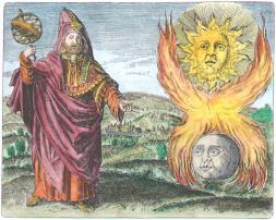 Hermes Trismegistus From Maier Symbola Aurea Mensae Franckfurt 1617, Alchemical And Hermetic Emblems 1