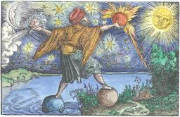 Woodcut From Petrarch Das Gluchbuch Augsburg 1539, Alchemical And Hermetic Emblems 1