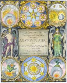 Engraved Titlepage From Mylius Anatomia Auri Frankfurt 1628, Alchemical And Hermetic Emblems 2