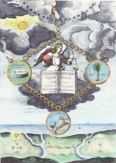 From Athanasius Kircher Magneticum Naturae Regnum 1667, Alchemical And Hermetic Emblems 2
