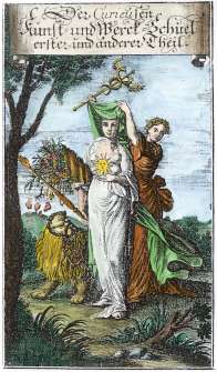 From Der Curieusen Kunst Und Werck Schul Nurnberg 1696, Alchemical And Hermetic Emblems 2