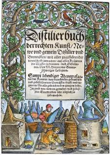 From Hieronymus Braunschweig Distilierbuch Der Rechten 1552, Alchemical And Hermetic Emblems 2