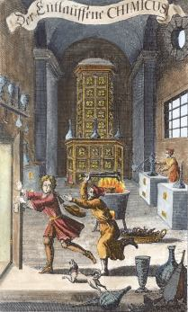From Johann Christoph Von Ettner Des Getreuen Eckharts Entlauffener Chymicus, Alchemical And Hermetic Emblems 2