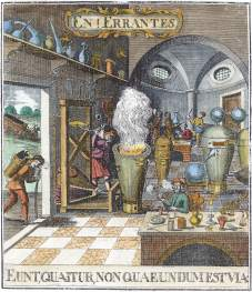 Frontispiece Falscher Und Wahrer Lapis Philosophorum 1752, Alchemical And Hermetic Emblems 2