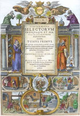 Title Page From Libavius Syntagmatis Selectorum 1613, Alchemical And Hermetic Emblems 2