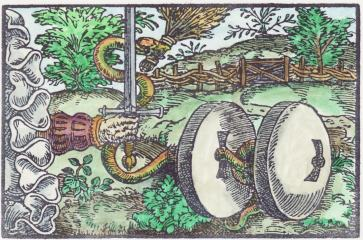Woodcut 01 From The Prognostications Of Paracelsus, Emblems Related To Alchemy