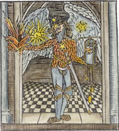 Woodcut Chronos As An Angel From Stephen Hawes The Pastyme Of Pleasure 1509