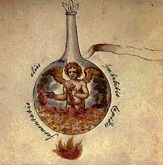 Another Fermenation The Imbibition Of The Stone From Cabala Mineralis Manuscript, Hermetic Emblems From Manuscripts 1