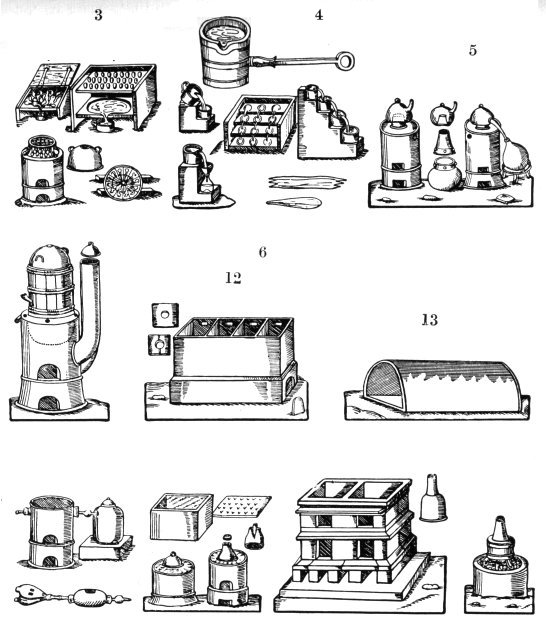 Apparatus For Analysis And Separation From Andreas Libavius Alchymia 1606 2, Alchemical Apparatus