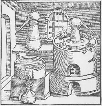 The Distillatory Furnace Taken From Geber Works London 1678, Alchemical Apparatus