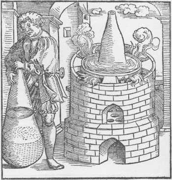The Water Bath Furnace Taken From Geber Works London 1678, Alchemical Apparatus