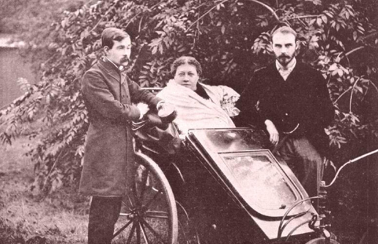 Hp Blavatsky With James Pryse Left And Grs Mead London 1890, George Robert Stowe Mead