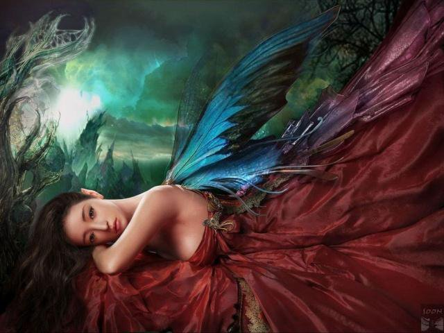 Dark Angel In Red Dress, Angels 2