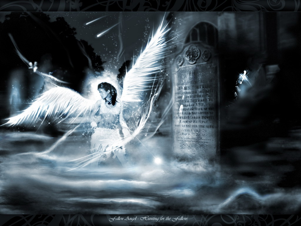 Angel In Dark Cemetry