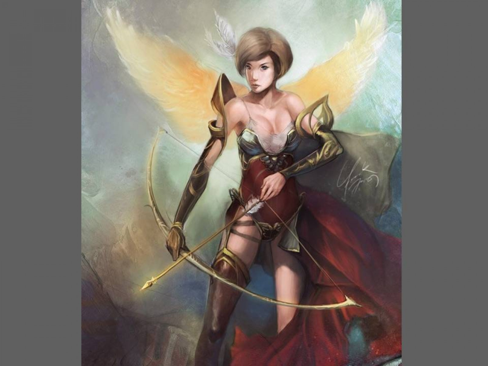 Archer With Golden Wings