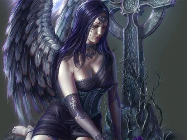 Black Angel On The Cemetry