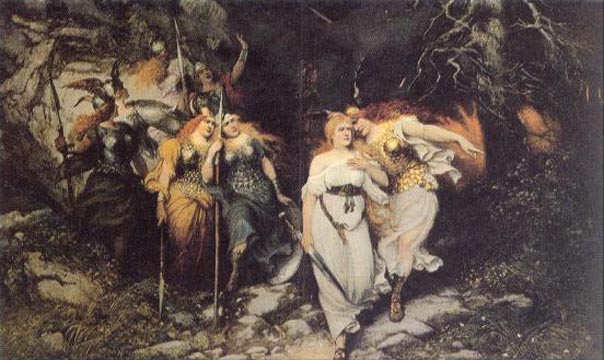 Brunhilde And Sieglinde, Asatru Gods And Heroes