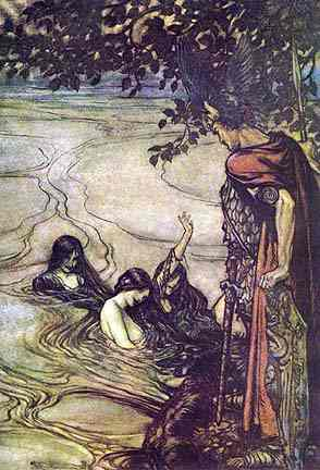 The Rhinemaidens And Siegfried, Asatru Gods And Heroes