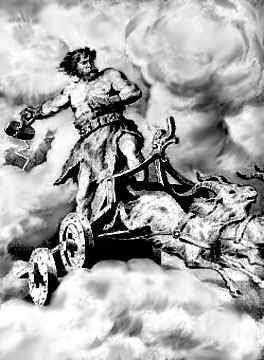 Thor In His Chariot 2, Asatru Gods And Heroes