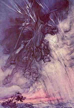 Wotan On Sleipner, Asatru Gods And Heroes