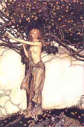 Freya By Arthur Rackham, Asatru Gods And Heroes