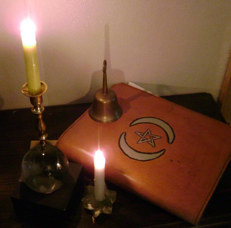 Bell Book And Candle Flame