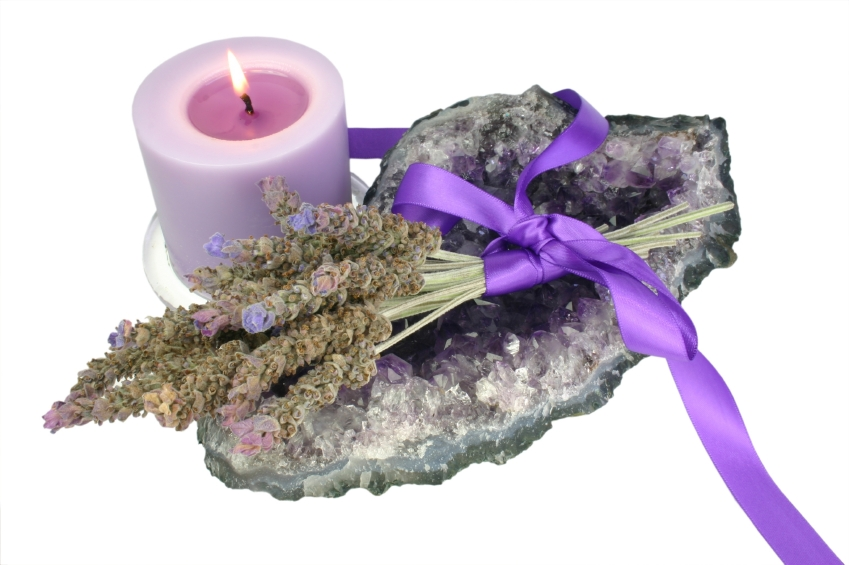Candle Lavender And Amethyst