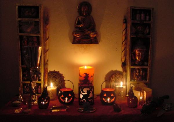 Altar Samhain, Candle Magic