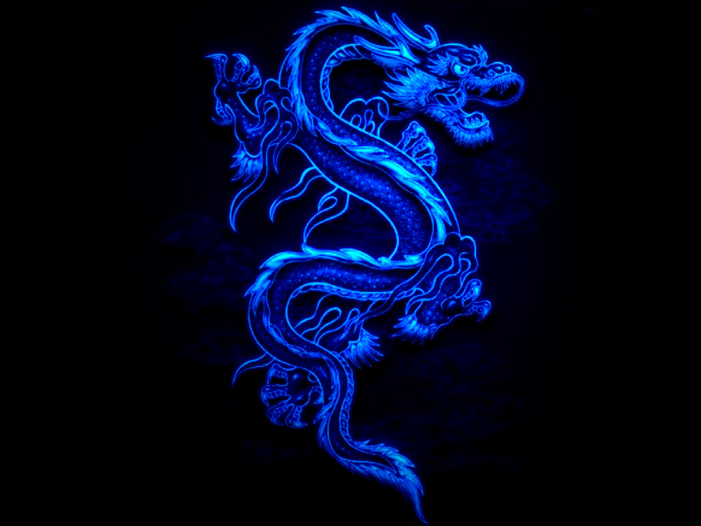 Blue Dragon Black Fire