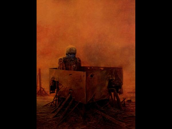 Zdzislaw Beksinski Dead In Box, Death