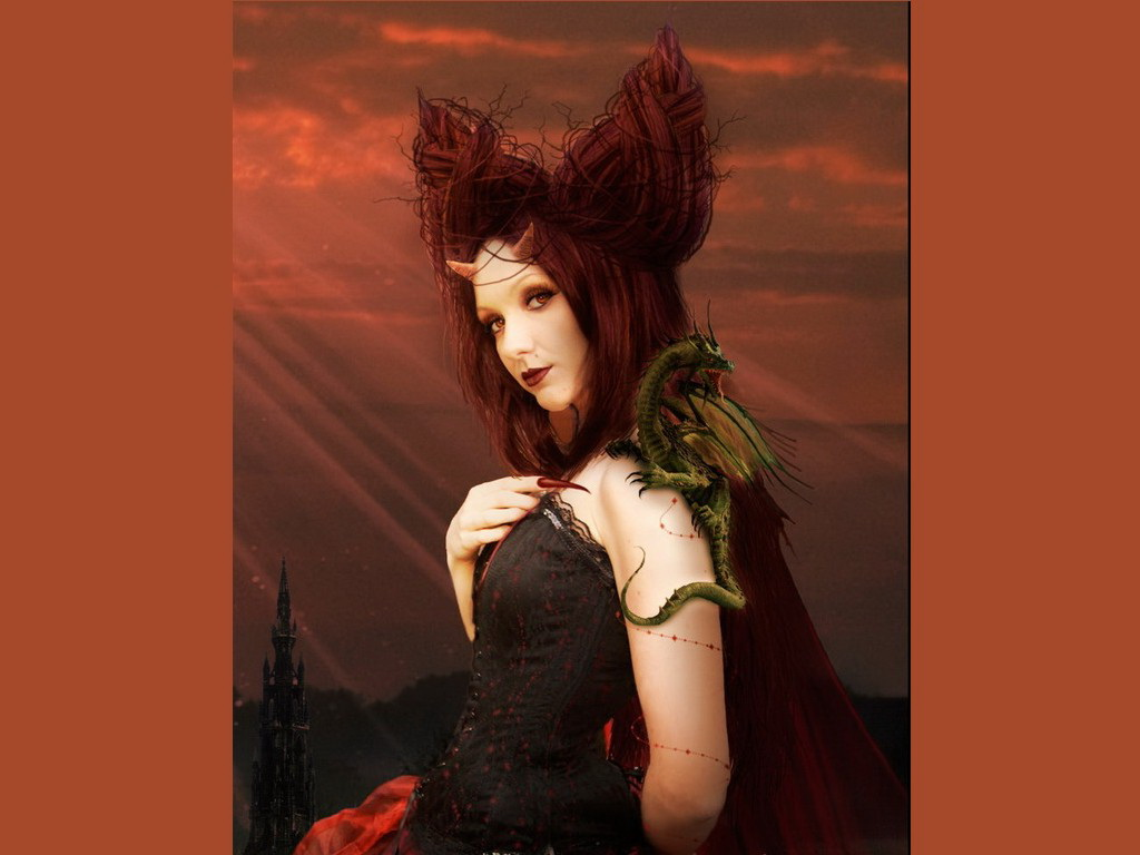 Red Dragon Demoness