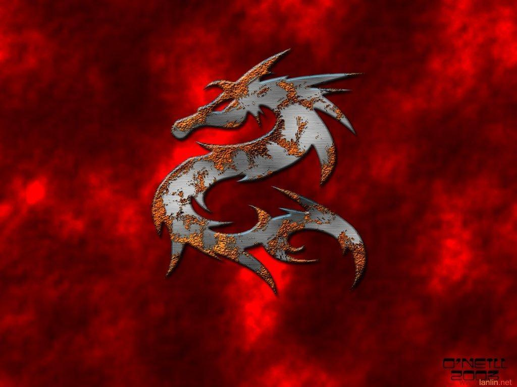 Dragon Background Red