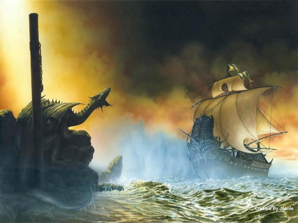 Drangon And Ship, Dragons