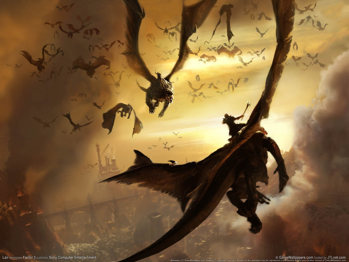 Lair Flying Dragon, Dragons