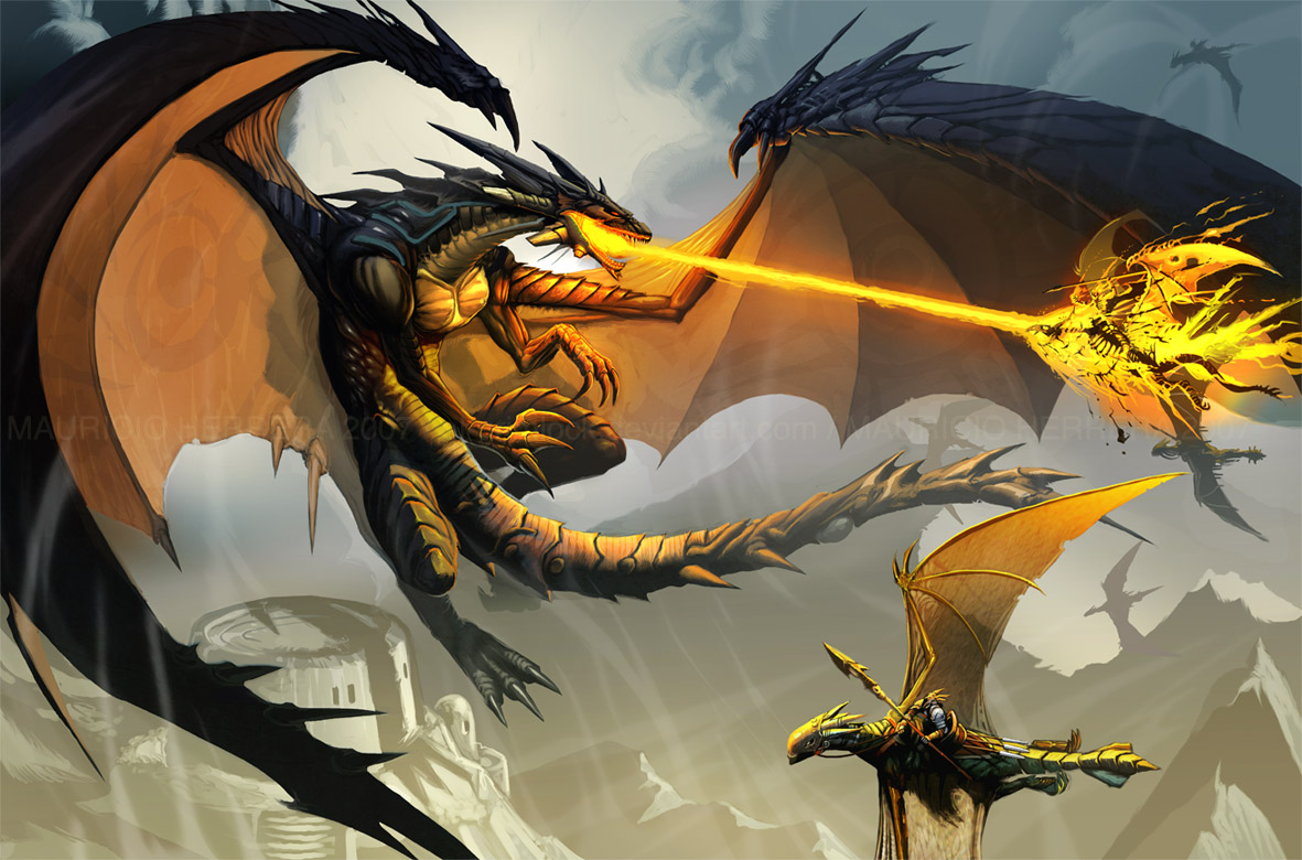 Black Dragon Attack By El Grimlock