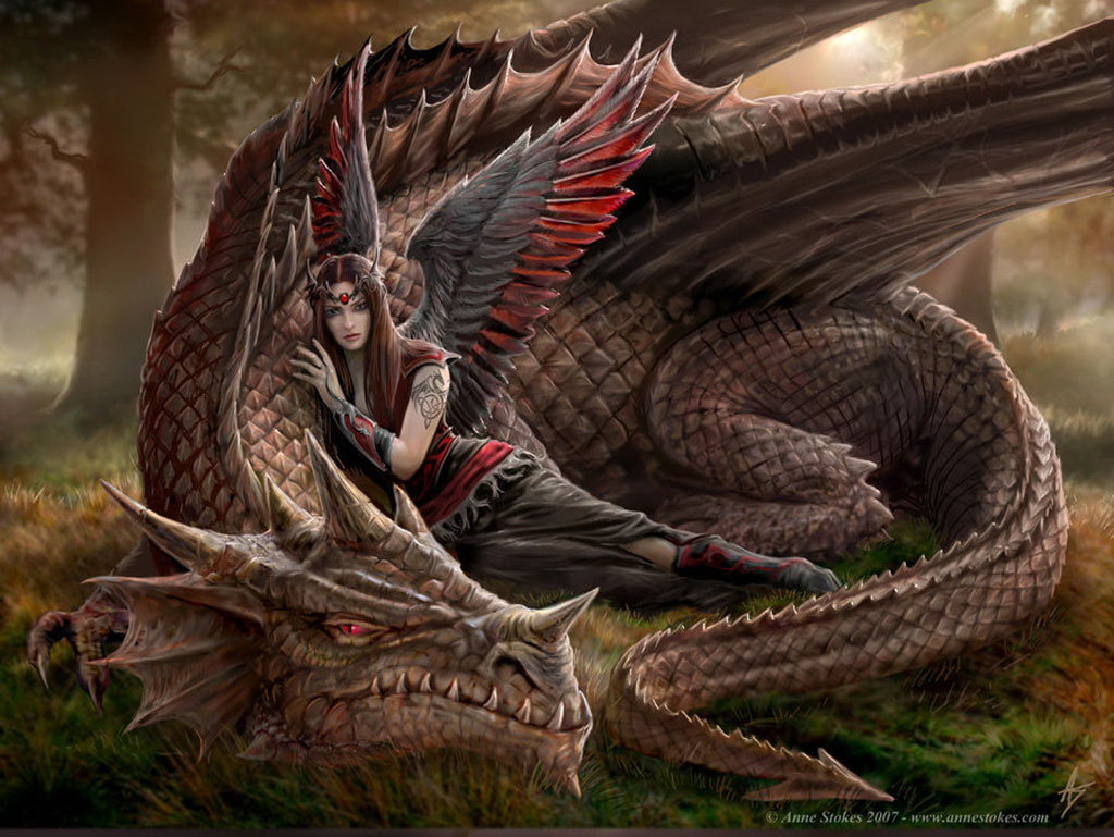 Dark Angel And Dragon, Dragons