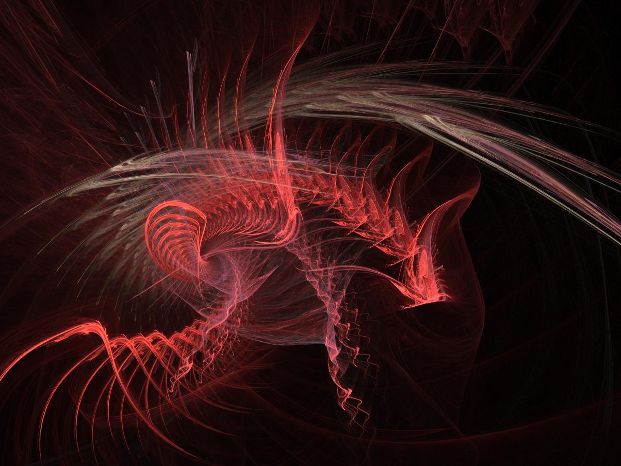 Dragon Lines Abstract Image