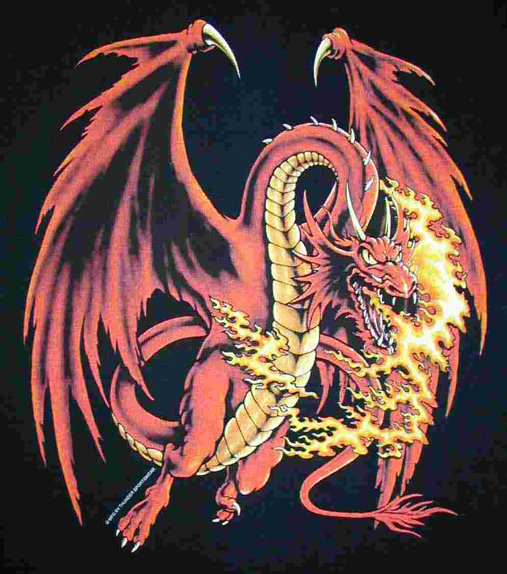 Red Dragon, Dragons