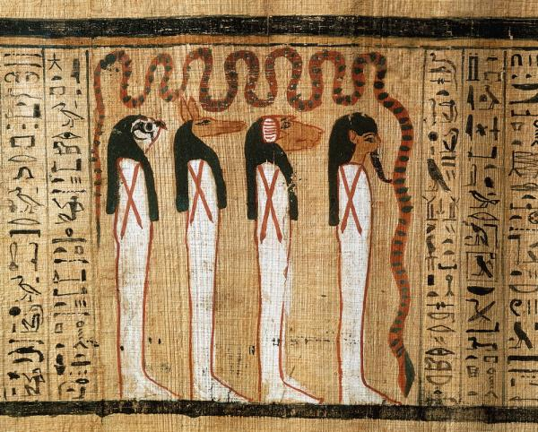 Illustration Book Of The Dead Of Heruben Egyptian Gods