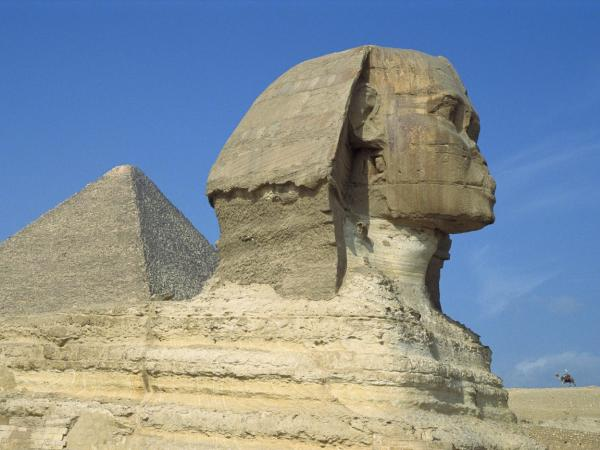 World Egypt The Sphinx And Great Pyramids Cairo