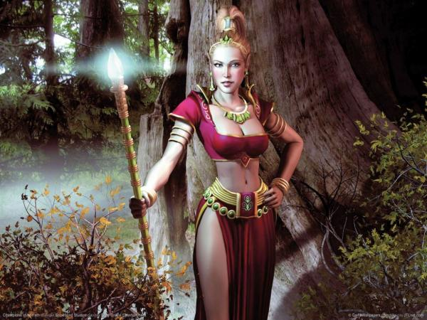 Elven Lady Of Forest