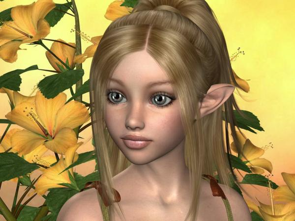 Elven Blue Eyes Girl