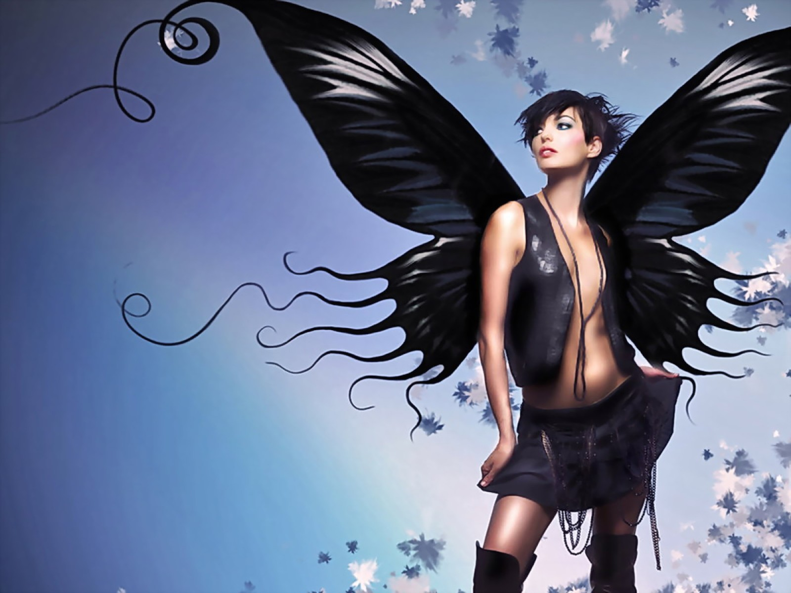Black Butterfly Girl, Fairies Girls 2