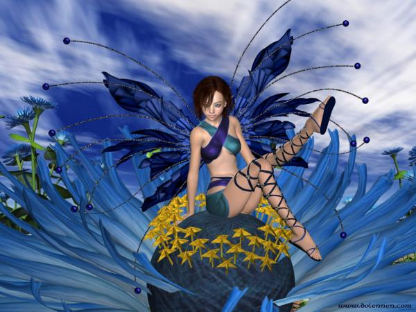 Blue Fairy Of Flower