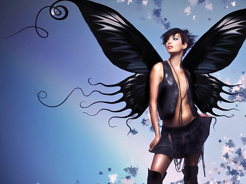 Black Butterfly Girl, Fairies Girls