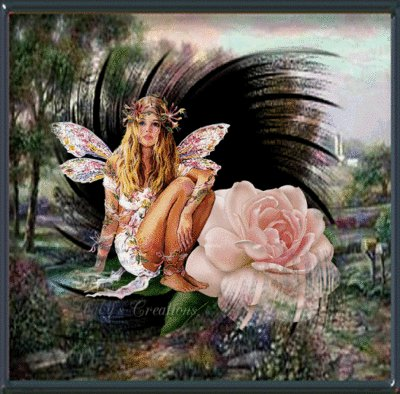 Fairy And Rose Flower, Fairies Girls