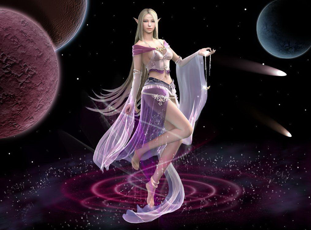 Elven Goddess In Space, Goddesses