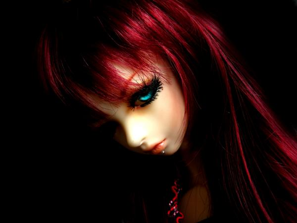 Evil Red Head Doll